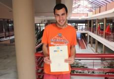 Javier Puñal finaliza el curso de Auxiliar de Cocina en la Escuela Superior de Gastronomía y Hostelería de Toledo